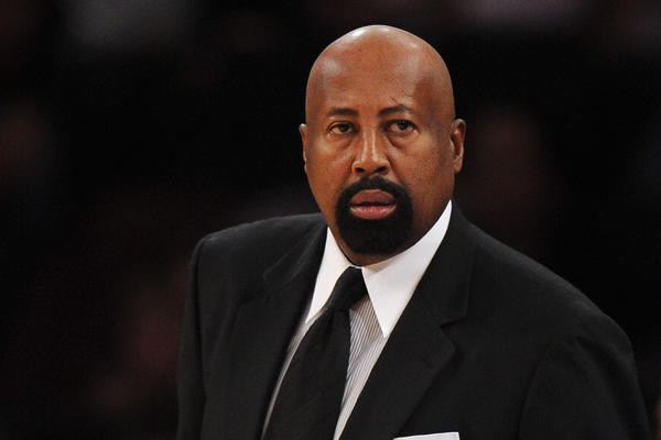 New York Knicks head coach Mike Woodson looks on during the first half against the Atlanta Hawks at Madison Square Garden on Nov. 16, 2013.