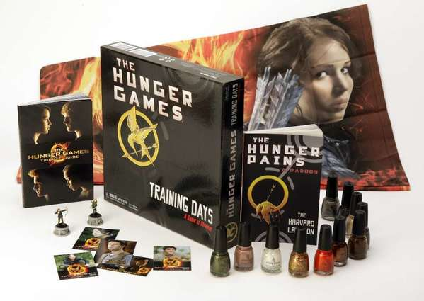 "There has been a vast variety of marketing tie-ins with the ""Hunger Games"" movie franchise, including a Covergirl makeup line called the Capitol Collection."
