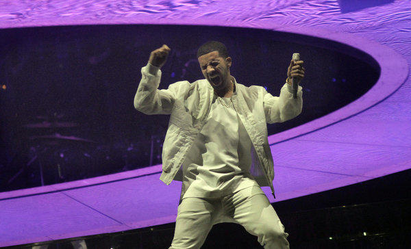 Drake performs onstage at the Honda Center in Anaheim on Nov. 21.
