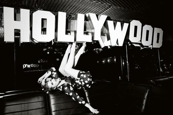 """Hollywood,"" with Evan Rachel Wood, by Ellen von Unwerth is among her images of the famous and beautiful, many shot in L.A. in black and white."
