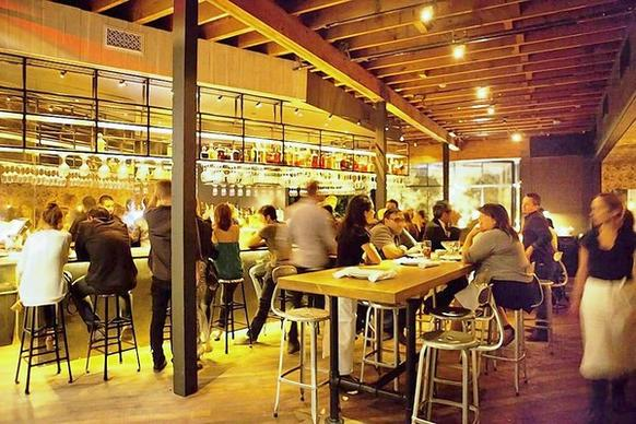 Laurel Hardware is a trendy restaurant in West Hollywood.