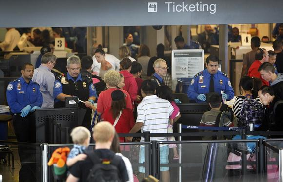 Passengers at LAX.