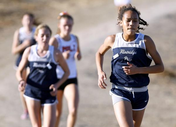 The Flintridge Prep girls will attempt to lead a double sweep of the CIF Southern Section Divisional Championships in the Division V race on Saturday. (Raul Roa/File Art)