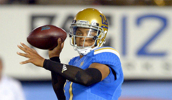 UCLA quarterback Brett Hundley has thrown for 2,384 yards with 20 touchdowns and eight interceptions this season for the Bruins.