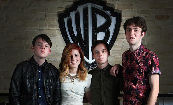 Echosmith, a band of Sierota siblings with Graham, Sydney, Jamie and Noah at Warner Bros. Records in Burbank on Wednesday, Nov. 20, 2013.