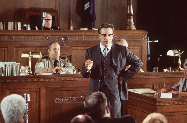 "Kevin Costner stars as New Orleans District Attorney Jim Garrison in Oliver Stone's 1991 drama ""JFK,"" which won Oscars for cinematography and editing."