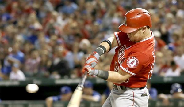 Outfielder Kole Calhoun hit .282 and drove in 32 runs in 58 games for the Angels last season.