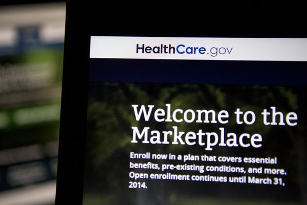 The Healthcare.gov website is displayed on laptop computers arranged for a photograph in Washington, D.C., U.S., on Thursday, Oct. 24, 2013.