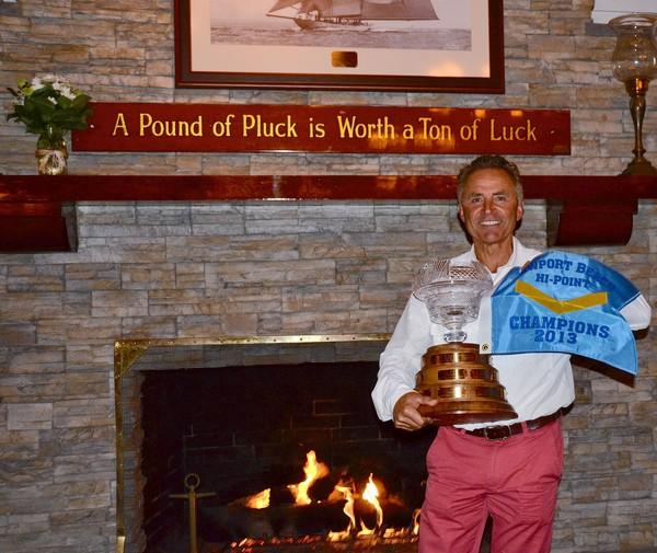 Buddy Richley accepts this year's Newport High Point Series trophy.