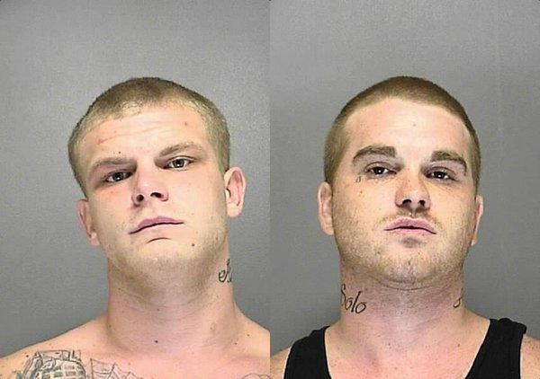 Dustin Gunther, left, Dustin Petty are suspects in a Volusia County crime spree.