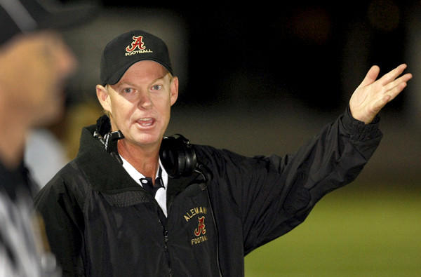 Coach Dean Herrington has guided Alemany to the Southern Section Pac-5 Division semifinals this season.