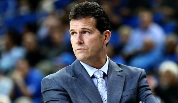 UCLA Coach Steve Alford looks on as the Bruins play Morehead State Eagles at Pauley Pavilion on Nov. 22.