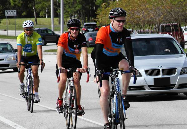 Henry Osti of Cooper City is cycling from Jacksonville to Key West and stopping in cities along the way, including Miami, Sunrise and Boynton Beach, to ask residents to sign up for the national bone marrow registry.