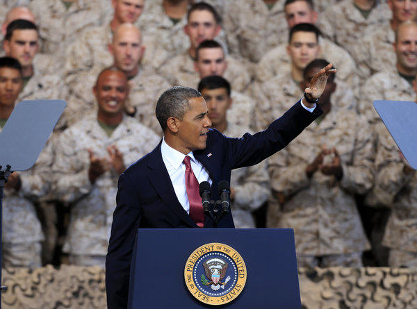 President Obama will visit Southern California on Nov. 25 and 26. His last visit to the area was in August, when he addressed Marines at Camp Pendleton, above.
