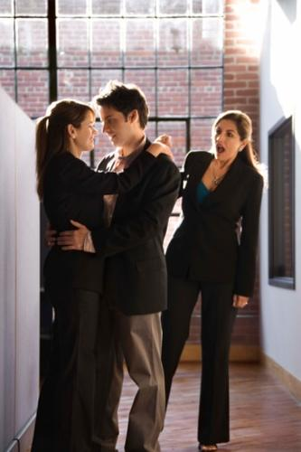 Office relationships are always tricky. Many companies have strict rules in place when it comes to this. Also, the day-to-day stresses of office life can cause relationship to go from private to public in a flash.