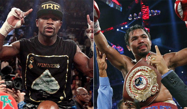 Floyd Mayweather Jr., left, and Manny Pacquiao have got to face off in the ring at some point, right?