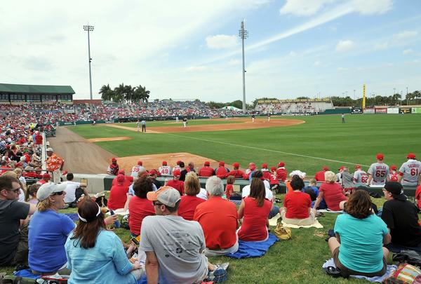 The Miami Marlins open 2014 Grapefruit League play against the St. Louis Cardinals at Roger Dean Stadium in Jupiter on Feb. 28, 2014.
