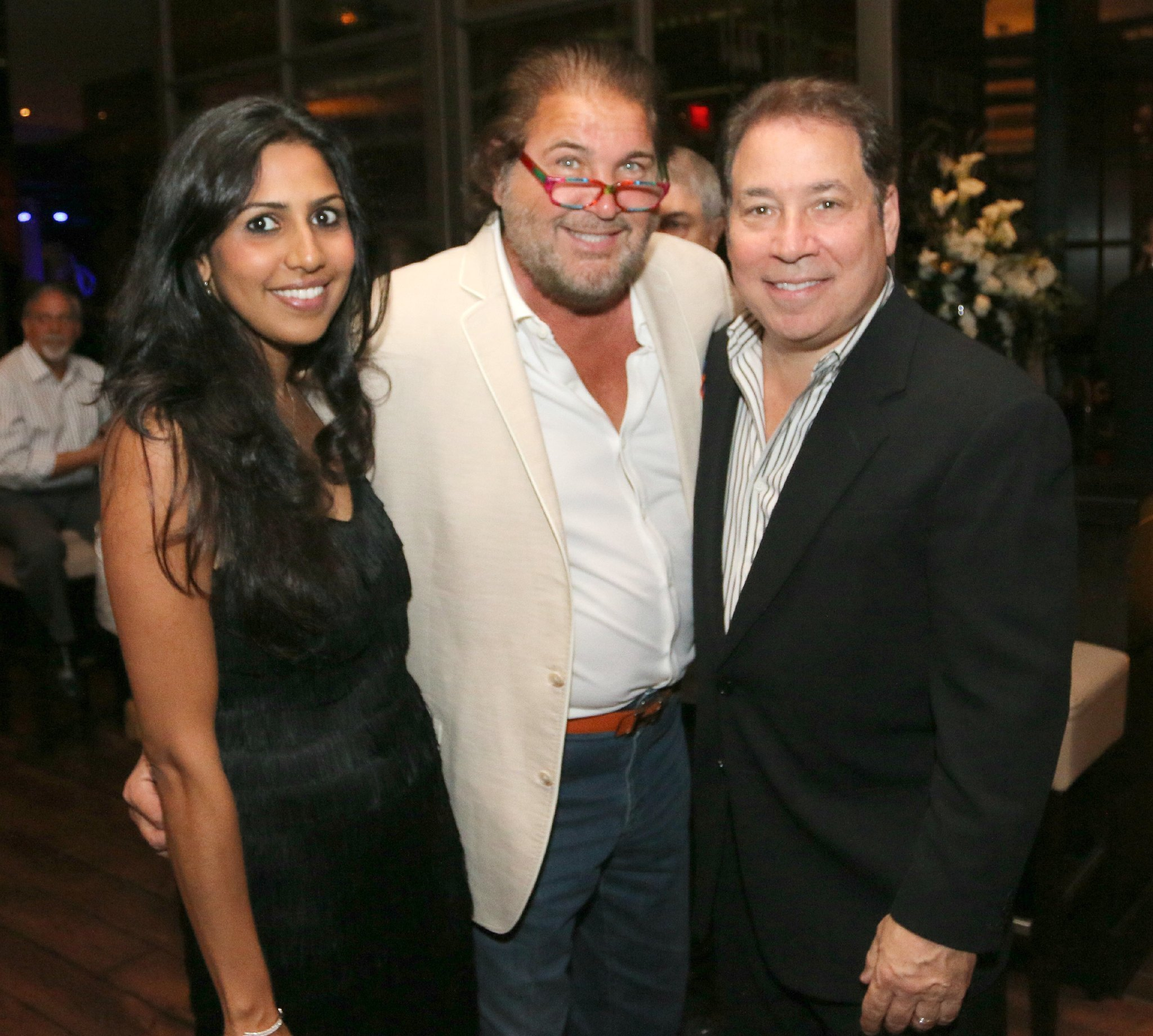 Jazziz Nightlife Grand Opening Party - Zakiya Fagien, Warren Diamond and Michael Fagien
