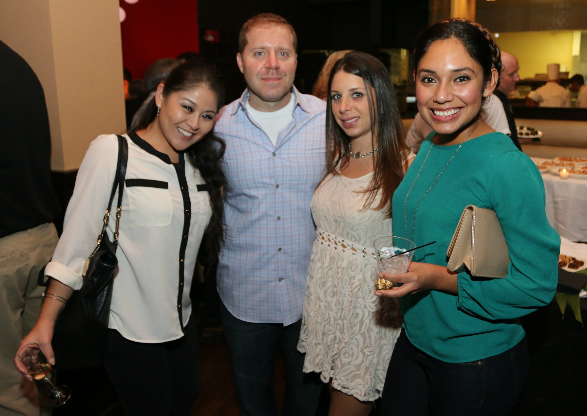 Jazziz Nightlife Grand Opening Party - Yumi Nagamatsu, Chris Pascuzzi, Amanda Friedman and Samantha Lacayo