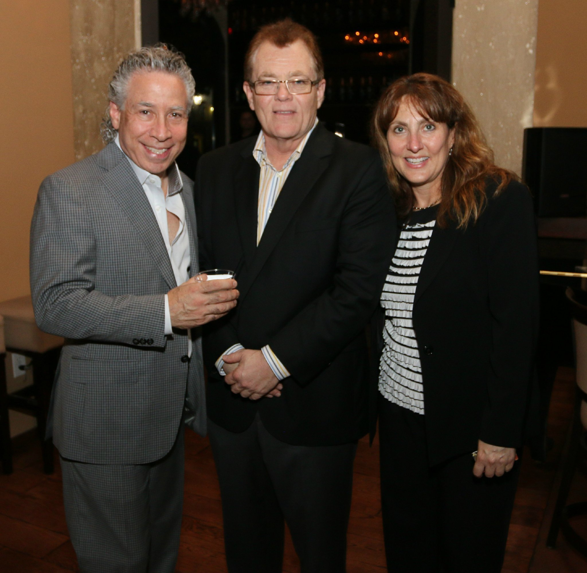 Jazziz Nightlife Grand Opening Party - Steven Fagien, Mike Bilton and Karen Meyers