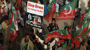 Drone protesters block NATO supply routes in Pakistan