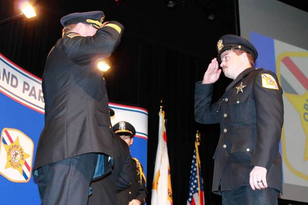 The Orland Park Police Department celebrated its annual awards ceremony on Nov. 21 at Sandburg High School. Elected officials and police management staff honored individual officers for acts of courage, kindness and service to the community.