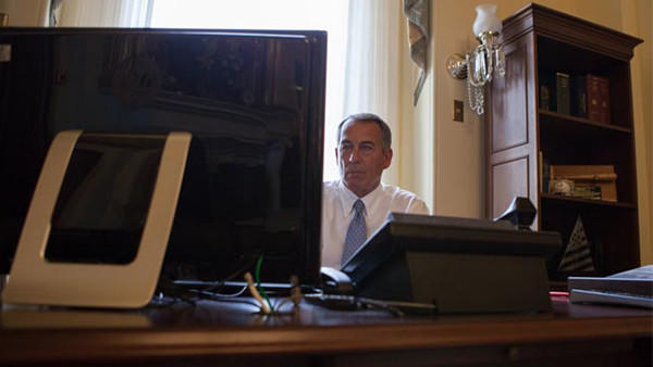 Speaker John Boehner, grappling with Obamacare.