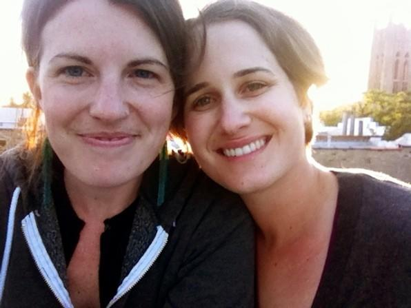 Christine Irvine (left) and Mary Nicols (right). The couple has been together since April 2011 and plans on getting married this summer, but not in their first-choice venue on Loyola University's campus.