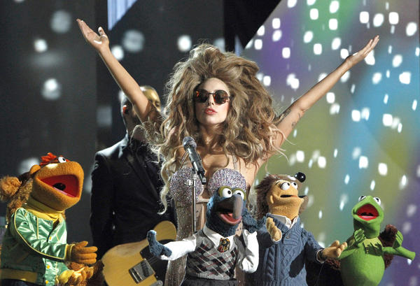 "Lady Gaga and the Muppets star Thursday in ABC's special, ""Lady Gaga & The Muppets Holiday Spectacular."""