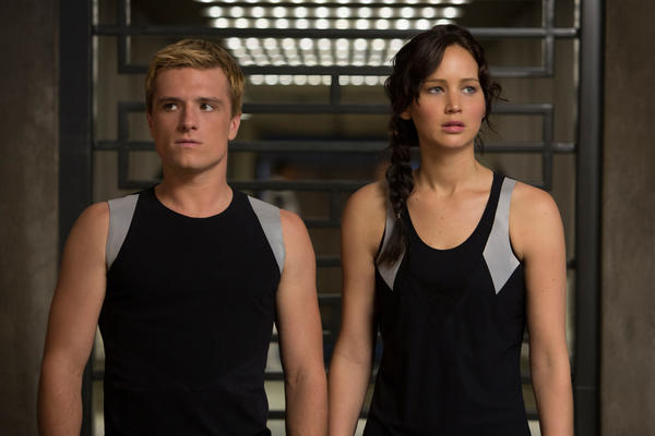 "Josh Hutcherson and Jennifer Lawrence star in Lions Gate Entertainment Corp.'s ""The Hunger Games: Catching Fire."""