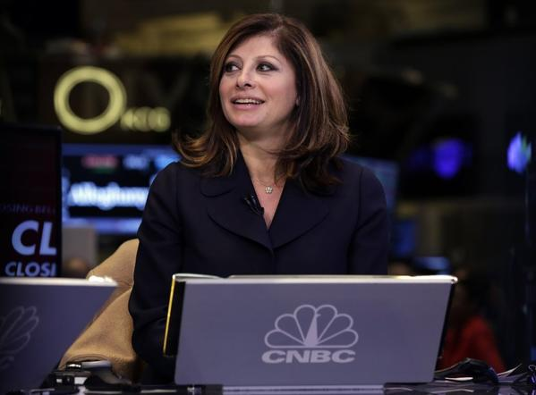 Maria Bartiromo, signing off from CNBC last week on her way to Fox.