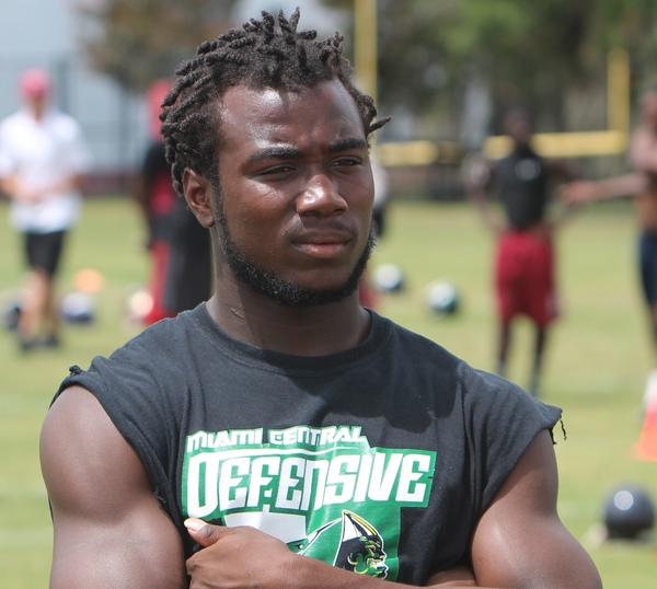 Miami Central running back Dalvin Cook was at Florida State's Jimbo Fisher Football Camp this summer and he has a good relationship with tight ends coach Tim Brewster, but he remains committed to the Florida Gators.