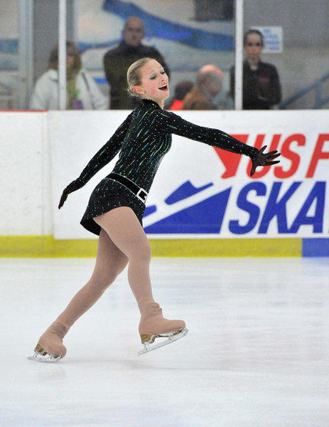 Franchesca Chiera of Coral Springs skates to gold medal in the Eastern Sectionals at Ashburn, Va. The victory earned her a place in the Olympic Trials. (Stan Gilliland/Photo Miracles)