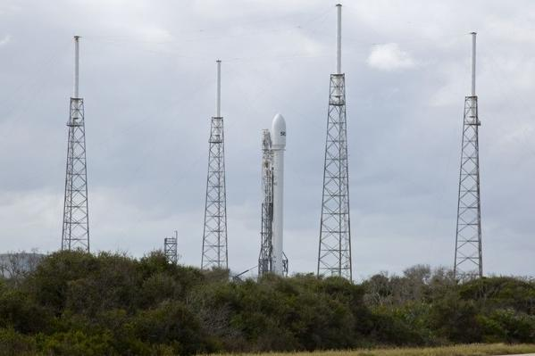 SpaceX's Falcon 9 rocket in Cape Canaveral was ready to launch Monday at 2:37 p.m. PST before being canceled.