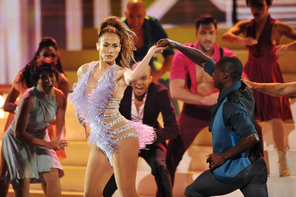 Jennifer Lopez performs at the American Music Awards at the Nokia Theatre L.A. Live on Sunday.