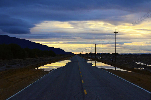 The road through Barstow.