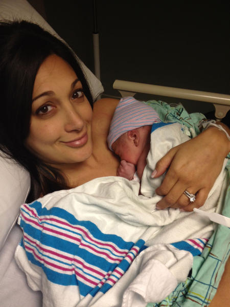 It's a boy for Fox CT traffic reporter Rachel Lutzker and her husband Dave. Alexander arrived at 10:35 a.m. Monday and weighed 6 pounds, 14 ounces.