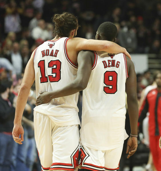 Center Joakim Noah and forward Luol Deng figure to remain key components for the Bulls.