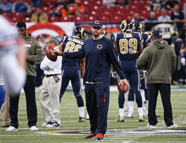 Injured Bears quarterback Jay Cutler won't be back Sunday against the Vikings.