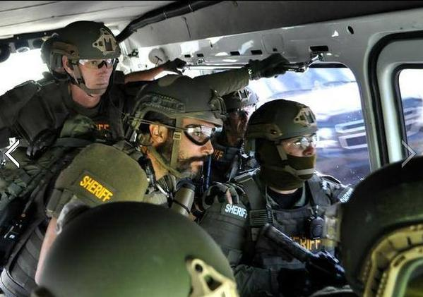 Broward Sheriff's Office deputies during Operation Full Blitz.