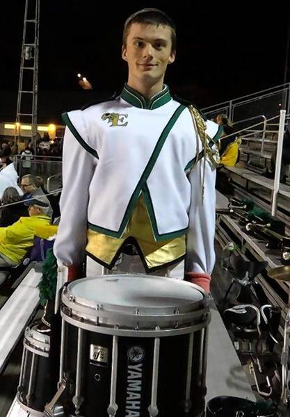Emmaus High School senior Fergus Watkins will perform on the snare drum during the Macy's Thanksgiving Day Parade.