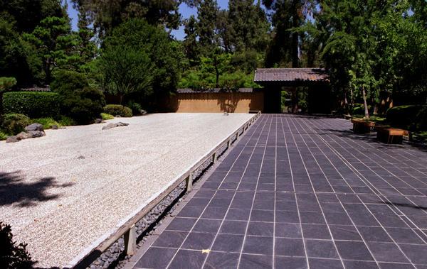 The Zen Garden At The Huntington Botanical Gardens In San Marino.