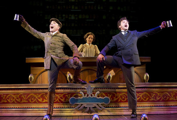 "Jefferson Mays and Bryce Pinkham in ""A Gentleman's Guide to Love and Murder"" on Broadway"