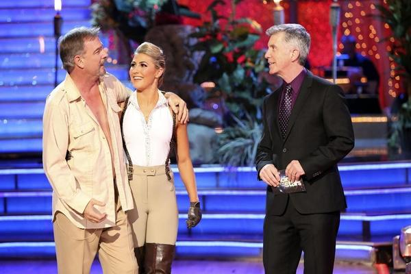 "Bill Engvall, Emma Slater and Tom Bergeron on Monday night's ""Dancing with the Stars."""