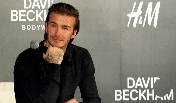David Beckham attends an H&M promotional event at Shangri-La Hotel on Nov. 21 in Shanghai.