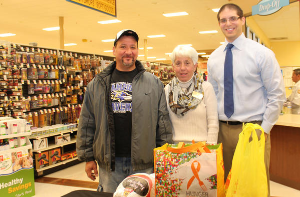 Representatives of Shoprite of Parkville distributed Thanksgiving meals on Nov. 21.