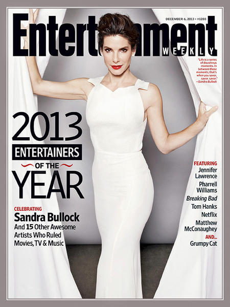 Sandra Bullock is Entertainment Weeklys entertainer of the year.