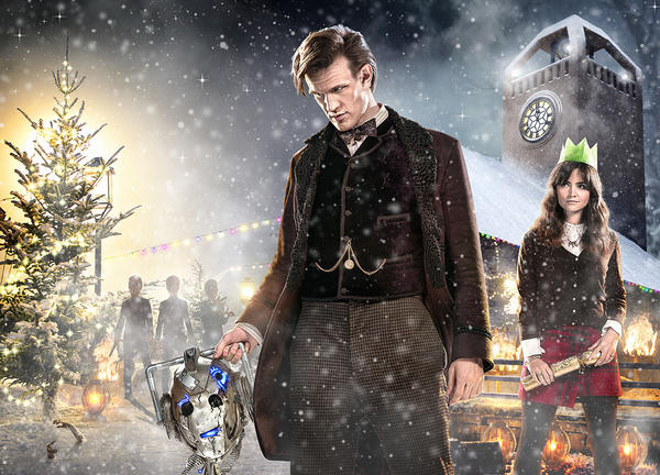 "The Doctor (Matt Smith) and Clara (Jenna Coleman) in the promo photo from ""The Time of the Doctor"" Christmas 2013 special."