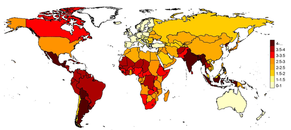 Flu mortality rates map