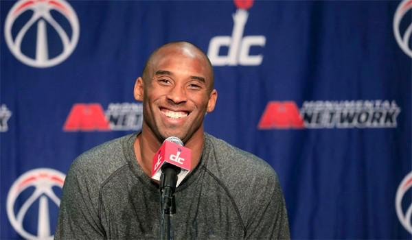 Kobe Bryant discussed his new two-year contract extension with the Lakers at a news conference Tuesday.